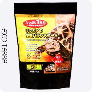 GEX エキゾテラ フード 爬虫類・両生類用 リクガメの栄養 バランスフード 1kg 【J】(PET) JAN4972547026958