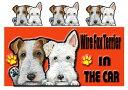 送料無料 ワイヤフォックステリア グッズ 雑貨 名入れ マグネット犬 ステッカー ワイヤフォックステリア4 犬 ステッカー ワイヤフォックステリア グッズ 雑貨