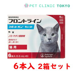 【送料無料】フロントラインスポットオン CAT 6P 2箱セット