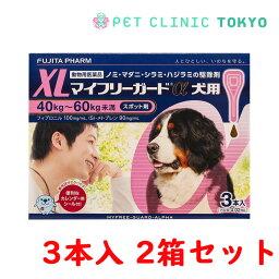 【送料無料】マイフリーガードα 犬用XL 3本入り 2箱セット