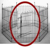【代引不可】【ペット用サークル】6面スチールサークルM用部品 ドア面 SC6-M-D BK