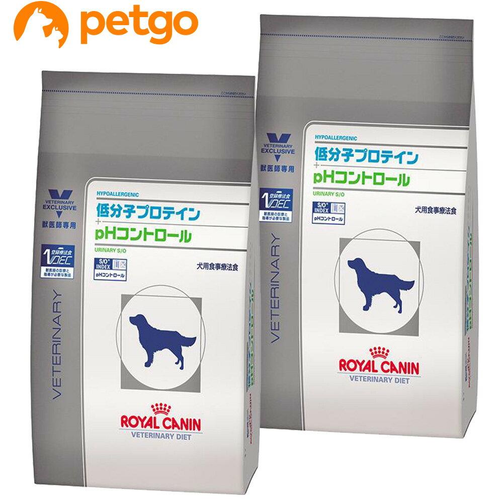 【最大500円OFFクーポン】【2袋セット】ロイヤルカナン 食事療法食 犬用 低分子プロテイン+pHコントロール ドライ 3kg【あす楽】