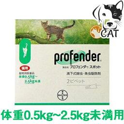 バイエル薬品 プロフェンダースポット 0.5kg〜2.5kg (1箱あたり2ピペット入り) 送料無料