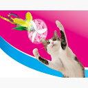 ペティオ ぷろぺらじゃらし グリーンフェザー 猫用おもちゃ じゃらし 猫 ネコ 短毛猫 長毛猫 回転するプロペラとシャカシャカ音でネコちゃん大喜び! Petio その1