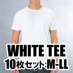 超お得なまとめ買い!!日本製ベーシックTシャツ日本製ホワイトTシャツ10枚セット★サイズM-L【...