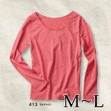 プリントスターBasicBoatNeckLongSleeveT-shirtsM-L