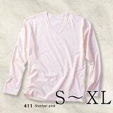 プリントスターBasicVNeckLongSleeveT-shirtsS-XL