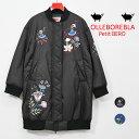 【 40%OFF SALE 】ALBEROBELLO アルベロベロ ぶたさん刺繍 MA-1 ダウンシートロングブルゾン 2020秋冬 ブラック ブルー