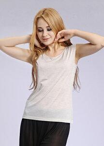 シルク100%タンクトップ 透けない絹紡絹(高級シルク)