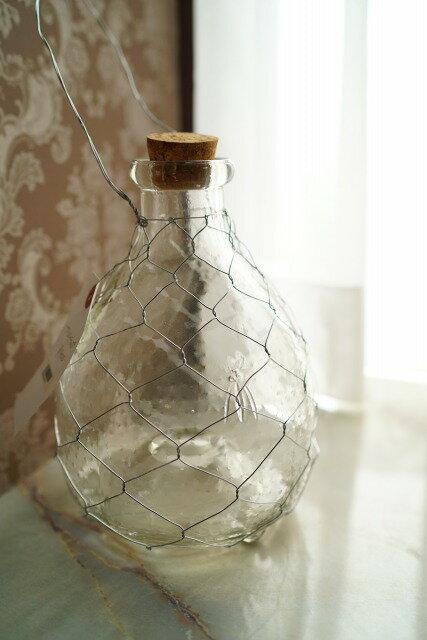 【人気商品再入荷】ガラス フライトラップ(L)ガーデニング 蚊取り瓶 ハエトリ ガラス 底穴あきタイプ オブジェ