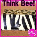【シンクビー財布Think Bee!】【ミスショッキング】長財布130104ゼブラ(レターパックライト不可)