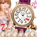 チャーム付きクリスタルベゼル腕時計ZS3
