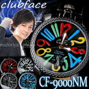 トップリューズ式ビッグフェイス腕時計チェッカーフレーム