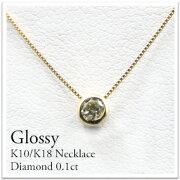 ダイヤモンド ネックレス ホワイトゴールド・ピンクゴールド・イエローゴールド シンプル プレゼント フクリン