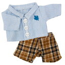 【TB&COCO(4Sサイズ)専用コスチューム】丸襟のストライプシャツは楓の校章入り。タータンチ...