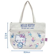 【NEW】【T2】【ハローキティ】帆布保冷舟形トートバッグ【HelloKitty/sanrio】【1903】【896-1024-1280】
