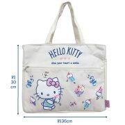【NEW】【T2】【ハローキティ】帆布保冷スクエアトートバッグ【HelloKitty/sanrio】【1903】【1036-1184-1480】