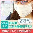 日本製マスク30枚個別包装立体4層構造マスクPM2.5メガネ曇らない