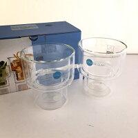 二重ガラスタンブラー2個セットMサイズイエナグラスJENAERGLAS耐熱・耐冷ドイツ北欧食器ボダム