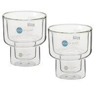 JENAERGLASイエナグラス耐熱ガラス製タンブラー2個セット★Mサイズ★スタッキングにも便利!耐熱・耐冷。ドイツの老舗硝子メーカーのグラス