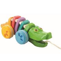 最新作レインボーアリゲーター6078プラントイPlantoys木おもちゃ1歳以上12monベビーキッズ子供知育玩具