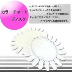 【メール便可】カラーチャート ディスク[ ジェルネイル ネイル スカルプ ]