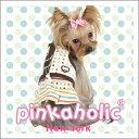 【楽天スーパーSALE半額特価】PINKAHOLIC NEWYORK(ピンカホリック ニューヨーク)ドット柄スカートハーネス&リードセット『犬服/ドッグウェア』NAKD-AH270_AL270【全国送料無料(メール便のみ)】[P2]