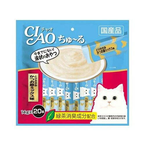 【数量限定】いなば CIAO(チャオ) ちゅ~るとりささみ かつお節ミックス味 14g×20本