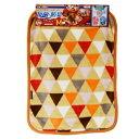 【在庫処分】ドギーマン 抗菌・防臭ブランケット アートモザイク Mサイズ オレンジ その1