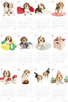 【カード決済メール便送料164円】期間限定THEDOGのアーリスト社製ミニカレンダー2015ビーグル