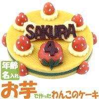 【送料無料送料込】Lovina(ロビナ)たっぷりいちごのまんまるケーキ【楽ギフ_名入れ】【犬ケーキ誕生日】