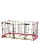 ペット用 お掃除簡単サークル 150-80 ピンク