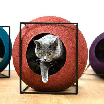 【200】[正規品] meyou PARIS The Cube 猫用ハウスキャット ベット ドーム 隠れ家 オシャレ 可愛い 高級 爪とぎ フォトジェニック インスタ映え ザ・キューブ ミーユー パリス