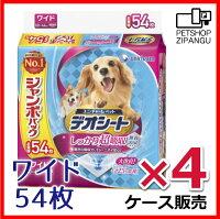 【ユニ・チャームペットケア】デオシートワイド54枚×4