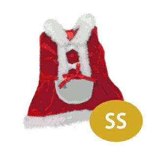 わんちゃんと一緒にクリスマス♪エプロン風ドレス SS【ドッグウエア/犬服/ドッグウェア/クリス...