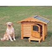 ロッジ犬舎 RK-950 ブラウン (体高約70cmまで) 送料無料 大型犬 犬小屋 ハウス 犬舎 ドア付き 屋外 室外 野外 木製 ペット用品 アイリスオーヤマ 楽天