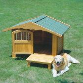 犬小屋 犬舎 送料無料 ロッジ犬舎 RK-1100[木製犬舎 大型犬用 屋外 庭 ペットハウス アイリスオーヤマ] 楽天◆5 あす楽