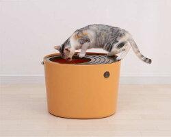 【エントリーでポイント2倍】上から猫トイレプチPUNT430ホワイト・オレンジアイリスオーヤマ散らからない掃除フルカバーネコトイレネコ上から上から入る上から入る猫トイレ上から猫トイレボックスBOXトイレ楽天≪現在の当店オススメ≫