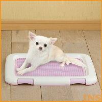 犬トイレアイリスオーヤマフチもれしにくいトレーニングペットトレーFTT-485ミルキーピンクミルキーブルーミルキーブラウン[ペットトレーペットトイレ消臭]楽天