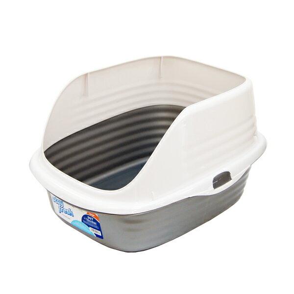 【エントリーでポイント2倍】抗菌ネコトイレ cleancat シルバー[OFT]【D】 ◆5