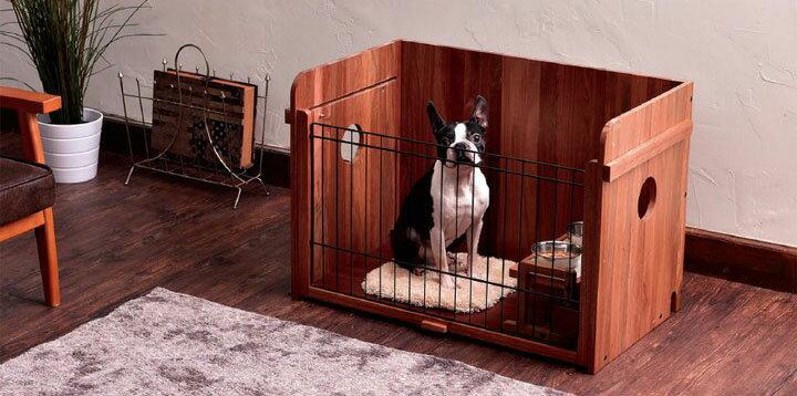 【エントリーでポイント2倍】porta ウッディドッグホーム 送料無料 犬 ドッグ ペット サークル 室内 小型犬 ハウス ケージ ドックサークル 木製 ペティオ 【TC】◆5