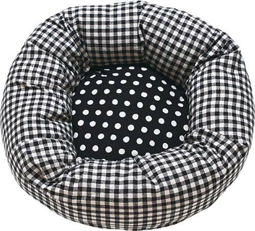 【クーポン配布中】 カドラー ギンガムドット M 459438 カドラー ペットベッド 犬 猫 小型犬 ペット 犬と生活 レッド・ブラック【D】【B】
