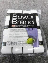 ボウブランドグリップテープ12個パックホワイト(BOW012)【ゆうパケットで発送】【郵便ポスト投函故に、代引不可です】【こちらは、なんば店商品です】