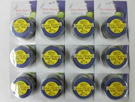 ボウブランド(BOWBRAND)グリップテープ3本巻ブルー×12個セット
