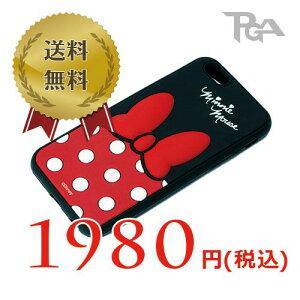 ■メール便OKPGA iPhone 6用 ソフトシリコンケース ミニーマウス PG-DCS901MNE