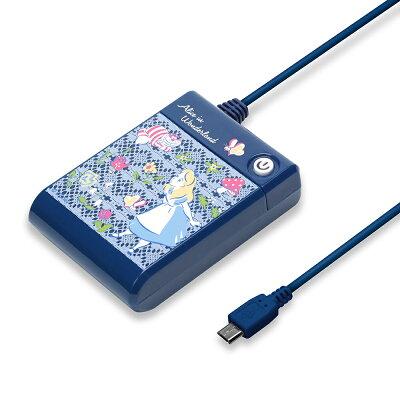 ■メール便不可PGA ディズニー microUSB対応 乾電池充電器 アリス PG-DNYJK299ALC