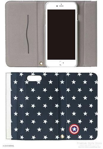iJacketマーベルキャラクターiPhone7/iPhone7Plus用フリップカバー
