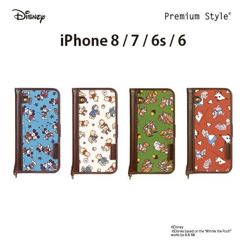 Premium Style ディズニーキャラクター iPhone8/7/6s/6用 フリップカバー ナイロン