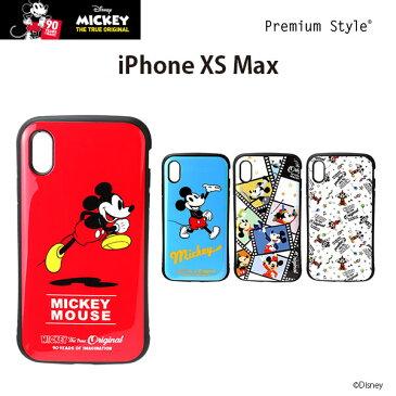 ディズニー iPhoneXSMax ハイブリッドタフケース ミッキーマウス アイフォンXSMax【6.5 アイフォンマックス ケース プレミアムスタイル Premium Style おしゃれ あいふぉん 耐衝撃 ワイヤレス充電可能 90周年】