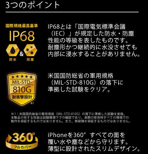 【予約販売】【2017年4月20日入荷予定】iJacketiPhone7・7Plus・6s/6用ウォータープルーフタフケースブラックORホワイト